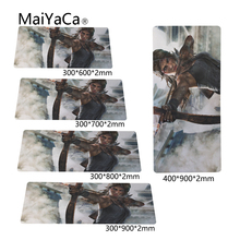 MaiYaCa Mouse pad Tomb Raider Large table mat laptop computer keyboard Rug Rubber Mat XL 900X300 M M Stitched Edge(China)