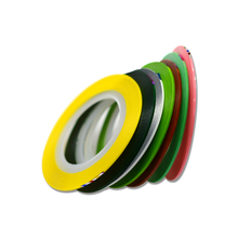 SWEET TREND 7 Rolls/Set Nail Art Colorful Fluorescent Design Nail Art Striping Tape Line 1mm DIY Tip Manicure Decal Tool BENC397(China)