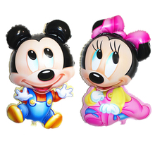 1pc Cute Cartoon 92X55cm Minnie Aluminum Foil Balloons For Happy Birthday Decoration Party Supplies Helium Balloon Toys for Kids
