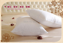 Single pillow 95% white goose down pillow 74*48cm white filled 26 oz Fill power 800+ white goose down free shipping medium(China)
