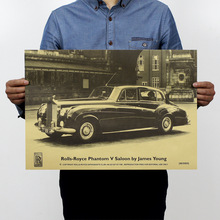 Rolls-Royce cafe/bar/famous auto brand advertising/kraft paper adornment bedroom 51 x35. 5 cm