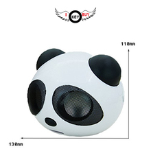 Cheapest Mini Cute Panda Portable Bluetooth Speaker Louder 3D Stereo Sound 3W Audio Driver With USB Charger Cable Cord Speakers