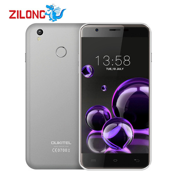 Oukitel ''1280x720 mt6737 u7 além disso smartphone android 6.0 quad núcleo 5.5 quad core 2 gb + 16 gb 2500 mah impressão digital 4g do telefone móvel