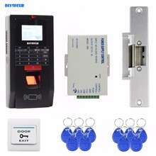 DIYSECUR Fingerprint Id Card 125KHz RFID Reader Password Keypad Door Access Control System Kit Strike Lock For Office / House(China)