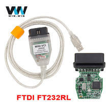 For Toyota V12.20.024 MINI VCI J2534 With FTDI FT232RL Chip Diagnostic Interface TIS Techstream minivci J2534 OBDII OBD2 Cable(China)