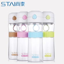 580ml Leak-Proof water bottle Transparent Large Capacity tumbler Drinking Water Bottle For Outdoor My Sports bottles Juice(China)