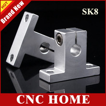 Free Shipping 20pcs SK8 (Size 8MM) Bearing Shaft Support CNC Linear Rail Guide Support for DIY CNC Milling Machine XYZ Table