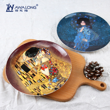 8inch fine bone china decorative plate art painting plate chargers porcelain decorative plates for wedding household present & Popular Decorative Charger Plates-Buy Cheap Decorative Charger ...