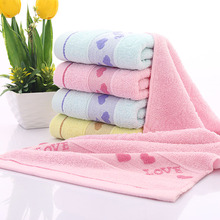 Quickly Dry Cotton LOVE Peach Heart Face Towel Bathroom Face Absorbent Drying Cloth