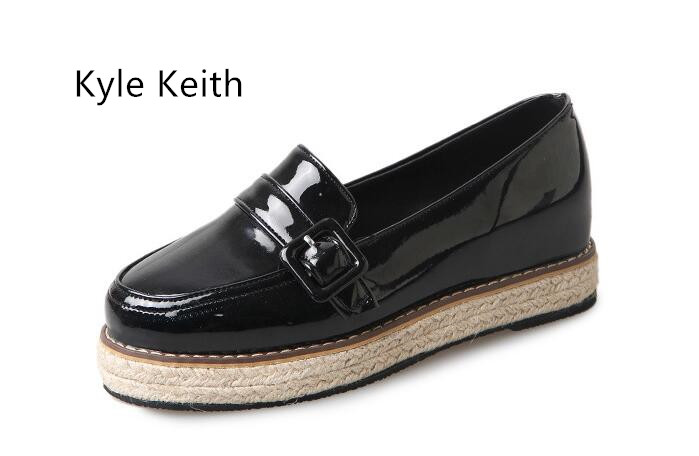 Kyle Keith Brand Women Slip on Tassel Espadrilles Platform Women Flats Fashion Ladies Flats Loafers Shoes Free Shipping<br>