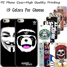6/6S 4.7'' Hard Plastic Back Cover For iPhone 6 6S Cases Case Cell Phone Shell Print Serious Monkey Bohemian Man Scary Skull