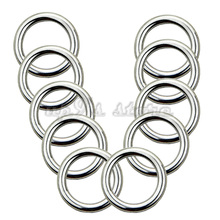 Free Shipping 10PCS 4x20MM Forged AISI 316 Stainless Steel Welded Round Ring Boat Hardware Rigging Hardware