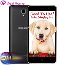 Original Doogee x10 3G WCDMA Mobile Phone Android 6.0 8GB ROM MTK6570 5.0MP Camera Dual SIM 5.0 inch IPS 3360mAh Cell Phone