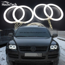 HochiTech ccfl angel eyes kit white 6000k ccfl halo rings headlight for Volkswagen VW Touareg 2003 2004 2005 2006
