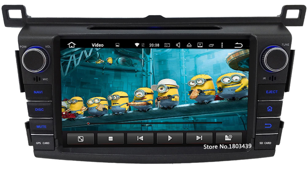 4G WIFI Android 6.0 8″ 32GB ROM Octa Core 2GB RAM DAB+AUX USB RDS Car DVD Multimedia Player Radio For Toyota RAV4 2013 2014 2015