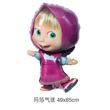 Masha party air balls Cartoon character Foil Balloon birthday Party decorations kids toys Supplies(China)