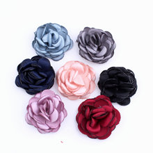 5pcs Handcrafted Fabric Roses Flowers Home Accessories DIY Making  Headgears Brooches sewing and Finding PJ076