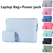 Zipper Laptop Case 15.6 14 13.3 12 11.6 inch Laptop Bag Briefcase Notebook Sleeve for Macbook Air 11 13 Pro 15 Cover+Power pack