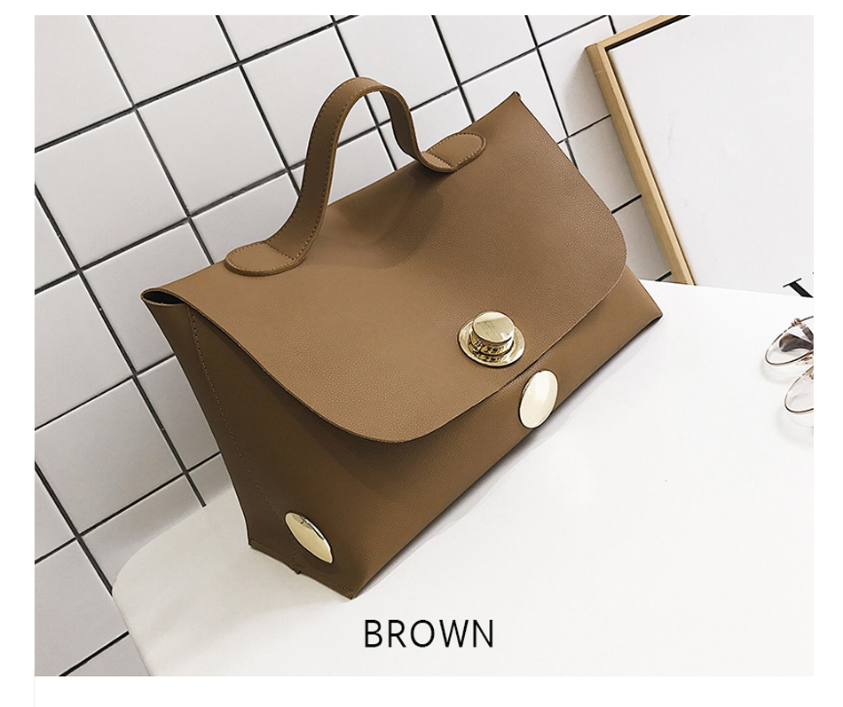 Fashion Luxury Lock Women Handbags High Quality Pu Leather Bags Handbags Women Famous Brands Big Capacity Ladies Hand Bags Sac 10