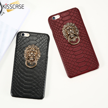 KISSCASE Case For iPhone 6 6s 7 Plus 5 5S SE Case Lione Head Cover Punk Style Sexy Snake Skin Hard PC Coque Fundas For iPhone 6