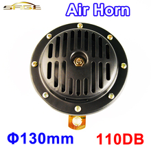 12V 110DB Diameter 130mm Electric Air Horn Aluminum Coil Black Color Loud for Motorcycle Bike Car Automobile Truck