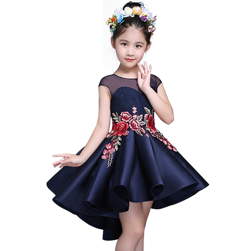 Kids Dresses for Girls Toddler Children Chinese style embroidery Fashion Trailing Dress Clothing Baby Girl Princess Dress<br><br>Aliexpress