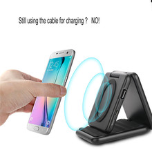 Buy Qi Wireless Charger Mobile Phone Holder Transmitter Power Bank Wireless Charging Pad Samsung Galaxy S8 Qi-Enabled Device for $23.39 in AliExpress store