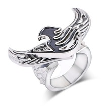 2017 Tail Fairy Logo Rings for Women Rings Angel rotatable Wings Stainless ring Antique Silver Charm High Quality Men Jewelry