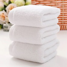 LFH 10pcs/lot 30X30CM Face Small Towel 30g Hand Towel Hotel White Cotton Breathable Washcloth Hotel Square Towel(China)