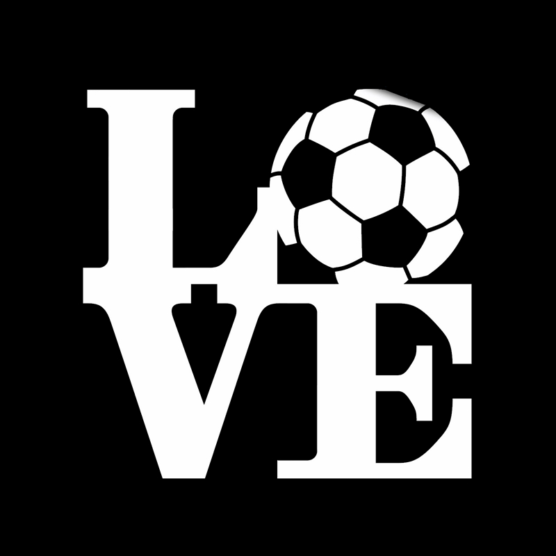 Love Football Player Sticker Sports Soccer Car Decal Helmets Kids Room Name Posters Vinyl Wall Decals Football Sticker