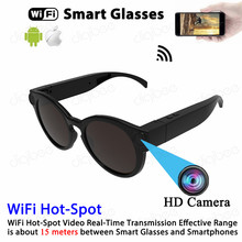21af41811e6 Full HD 1080P Smart Glasses Sports DV WiFi Camera for IOS Android Real-Time  View Mini Sunglasses Camera Video Recorder Camcorder
