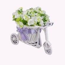 Ротанга трехколесный велосипед ткань цветок корзина с фруктами косметический организатор сад дома бюро Свадебная вечеринка украшения под...(China)