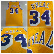 Cheap Los Angeles 34 Shaquille O'Neal Jersey, Basketball Jersey Shaquille ONeal VINTAGE MESH Embroidery Logos, Free Shipping