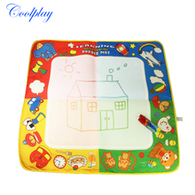 1 Pcs Non-toxic Colorful Reusable Water Drawing Mat With Magic Pen the Best Perfect Educational painting toys for kids 70*71cm(China)
