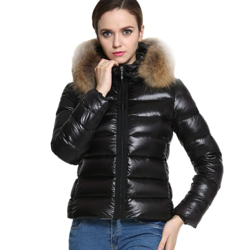 New Womens Down Jackets Down Cotton Parka Short Fur Collar Hooded Coat Quilted Jacket Female Outwear Oc14Одежда и ак�е��уары<br><br><br>Aliexpress