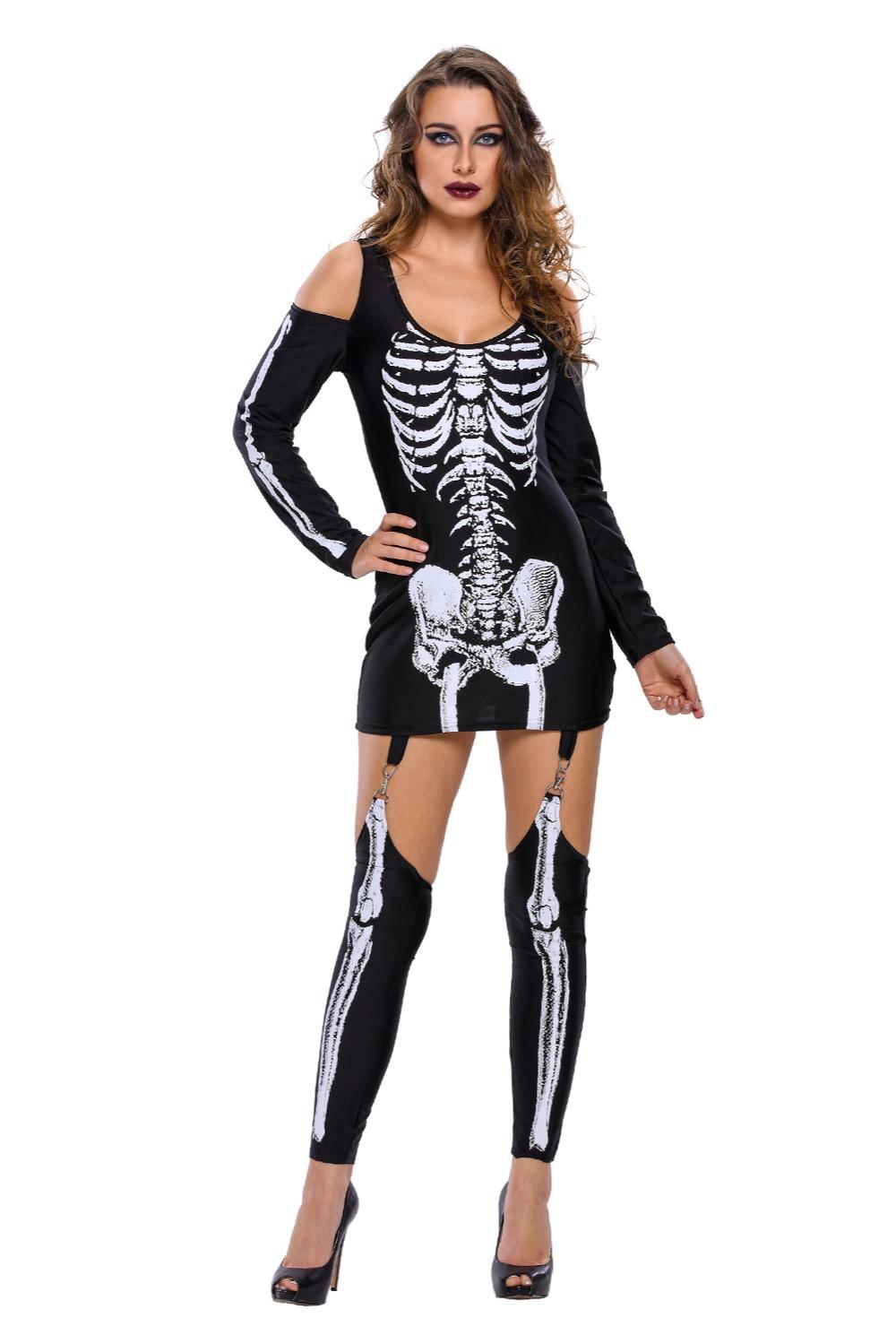 X-rayed-Halloween-Off-shoulder-Skeleton-Dress-Costume-LC89025-2-1