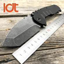 LDT OEM Praetorian TG01 Folding Knife 8CR13MOV Blade G10 Steel Handle Tactical Knife Utility Camping Knives Survival Tools EDC