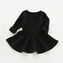 Kids Dress For Girls Clothes Candy Color Princess Dresses Long Sleeve Spring Toddler Girl Clothing Cotton Children Dress