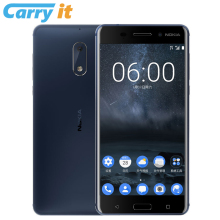 Original Nokia 6 2017 TA-1000 4G 32G 5.5'' Snapdragon 430 Octa core Android 7 3000mAh 16MP Fingerprint google play Cell phone(China)