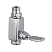 Foot-pressing type public toilet / WC stool flush valve, Copper squat pan flushing valve, Delay urinal flush valve chrome plated(China)