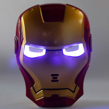 2017 New predador Luminous toy Anime show a mask Iron man mask luminous avengers alliance fatos de carn The New Year decorations