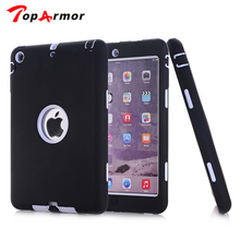 TopArmor For iPad 2 Heavy duty Hybrid Armor Impact Robot 3 In 1 Dual Color Rugged Hard Shockproof Case for iPad 2/3/4