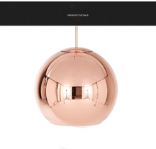 Modern Glass Pendant Light Plating ball Pendant Light Lighting (Diameter 20cm 25cm 30cm and 35cm ) +Free shipping!(China)