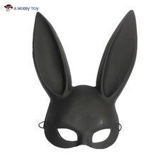 X-Merry Toy Party Mask Masquerade Rabbit Mask Sexy Bondage Bunny Long Ears Carnival Halloween Costume Party(China)