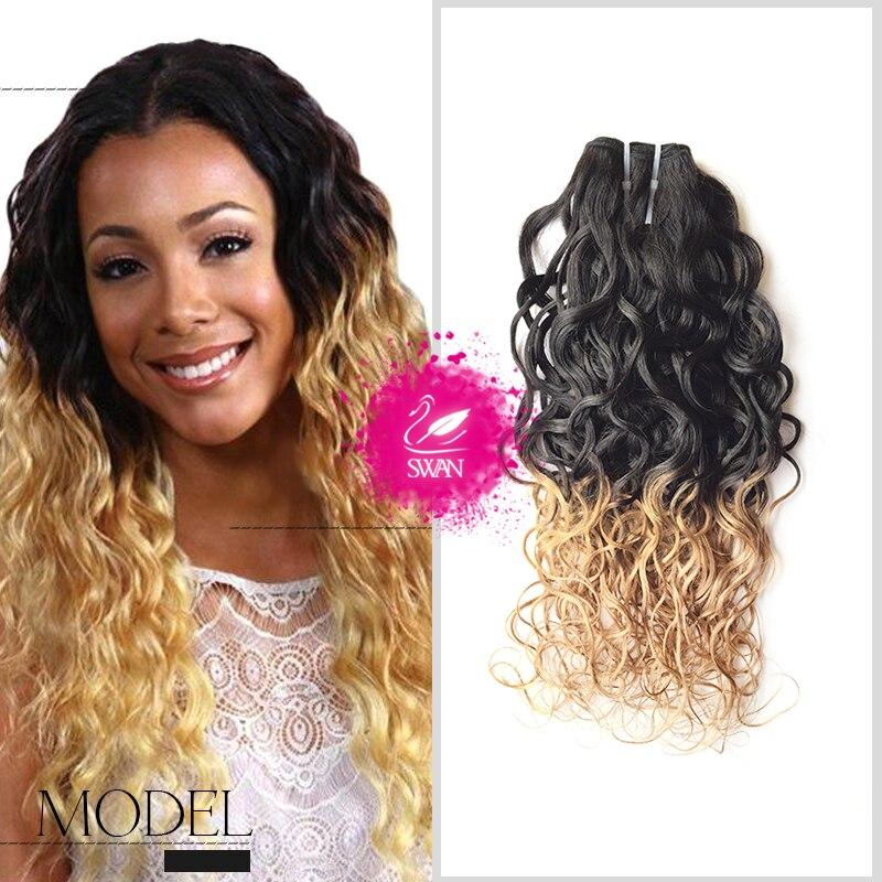 9A Brazilian Virgin Hair Water Wave 1 Bundle Wet And Wavy Virgin Brazilian Human Hair Weave 1B-27 Ombre Brazilian Curly Weave<br><br>Aliexpress