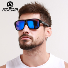 KDEAM 2017 Sunglasses Men Sport eyewear HD Polarized Sun Glasses Square Reflective Coating Women outdoor Brand 6 colors KD520