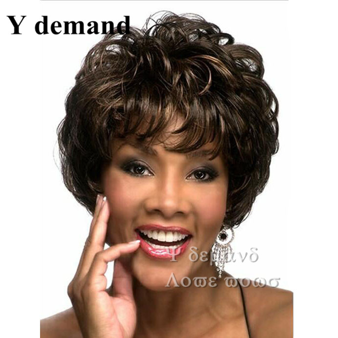 Natural black afro kinky curly short Wig discount wigs 2015 Heat Resistant synthetic hair wigs for Black Women Wigs Peruca Preta<br><br>Aliexpress