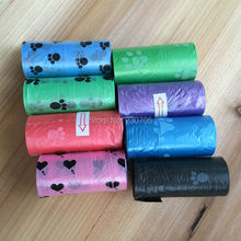 75pcs=5 Rolls Pet Dog Waste bags Poop Pooper Scoopers for Bags on Board biodegradable 6 Color Wholesale Free Shipping