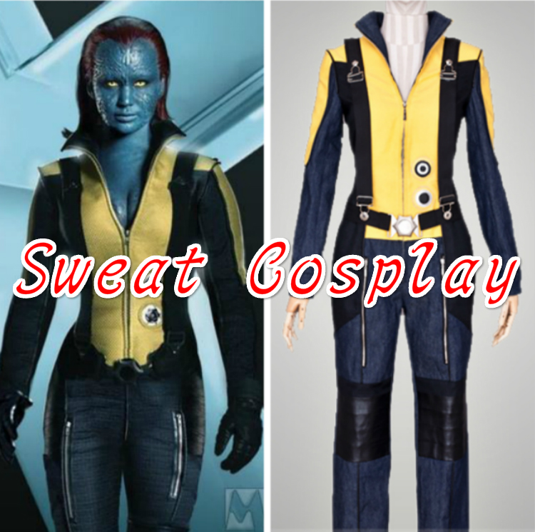 X-Men halloween costumes for adult women men Xmen Mystique Raven Darkholme Cosplay Costume Jumpsuit