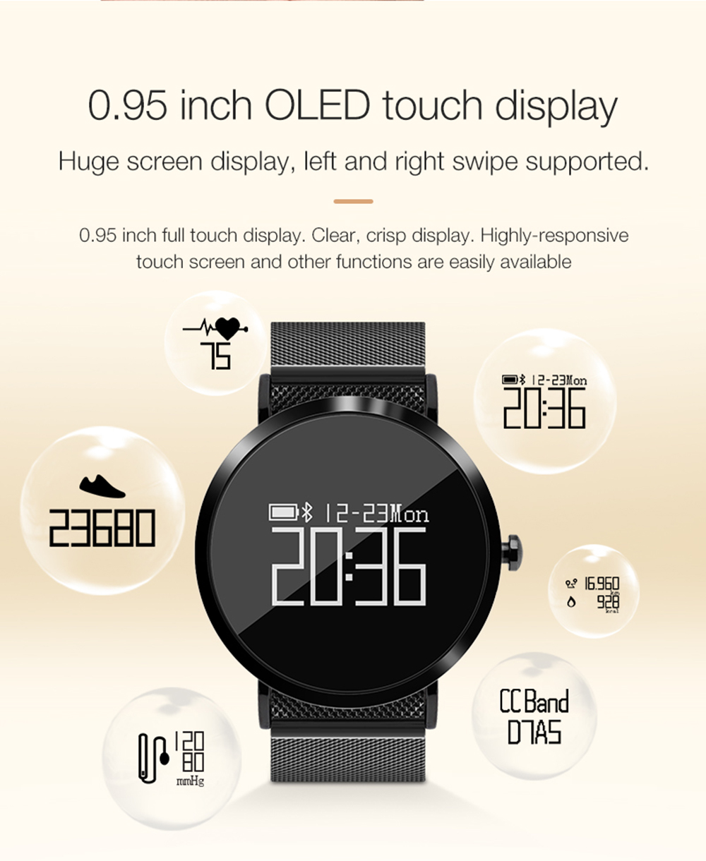 696 Smart Watch Men CV08 Wristwatch Women Sports Smartwatch Fitness Tracker Heart Rate Blood Pressure Monitor for Android IOS Ph 8